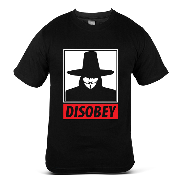 DISOBEY We See We Judge V for Vendetta Dark Cool 100% Cotton T-Shirt 2