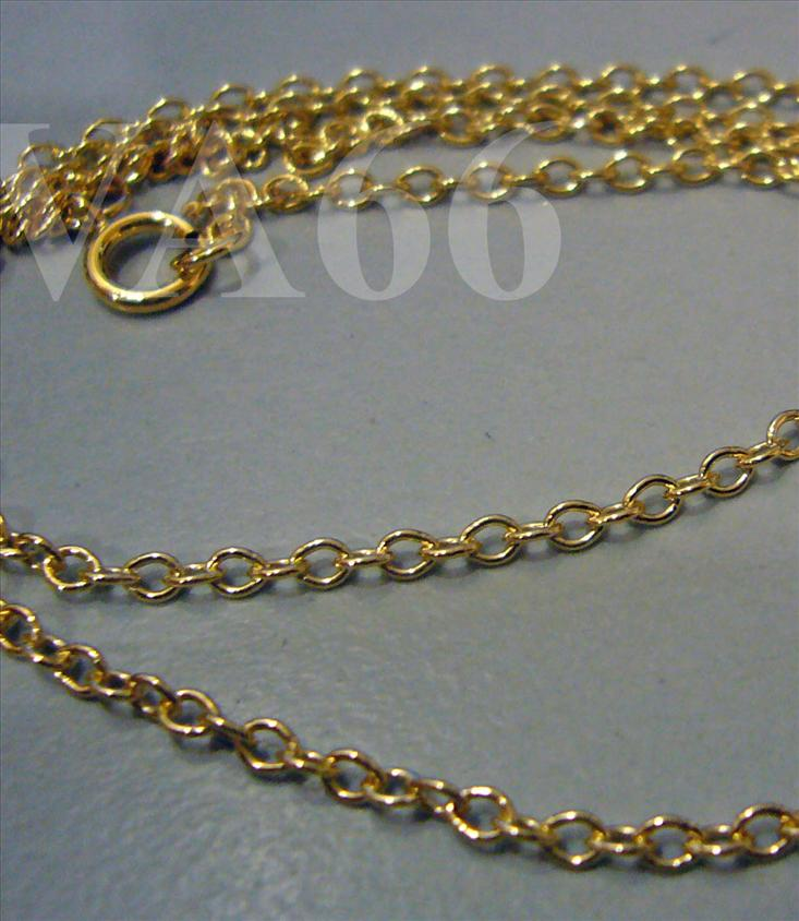 DIY 18 inches Finished Ready to Wear 14k Gold Filled Linked Chain Find