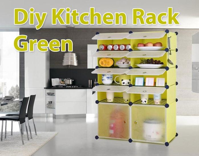 DIY KITCHEN RACK GREEN