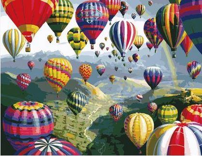 DIY Oil Paint in Number 50x65cm *Hot Air Balloon