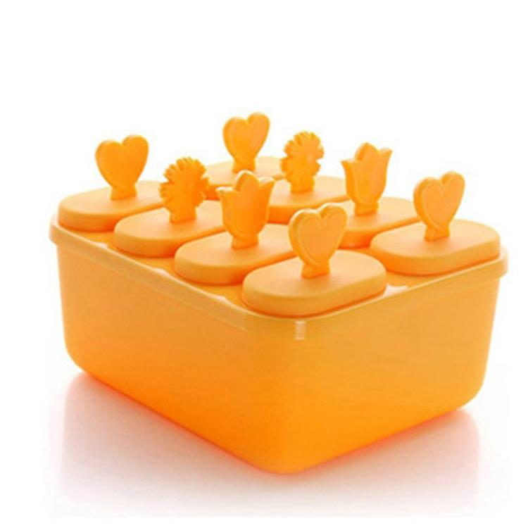 DIY Triangle Ice Cream Box Mould Maker Container  (Orange)