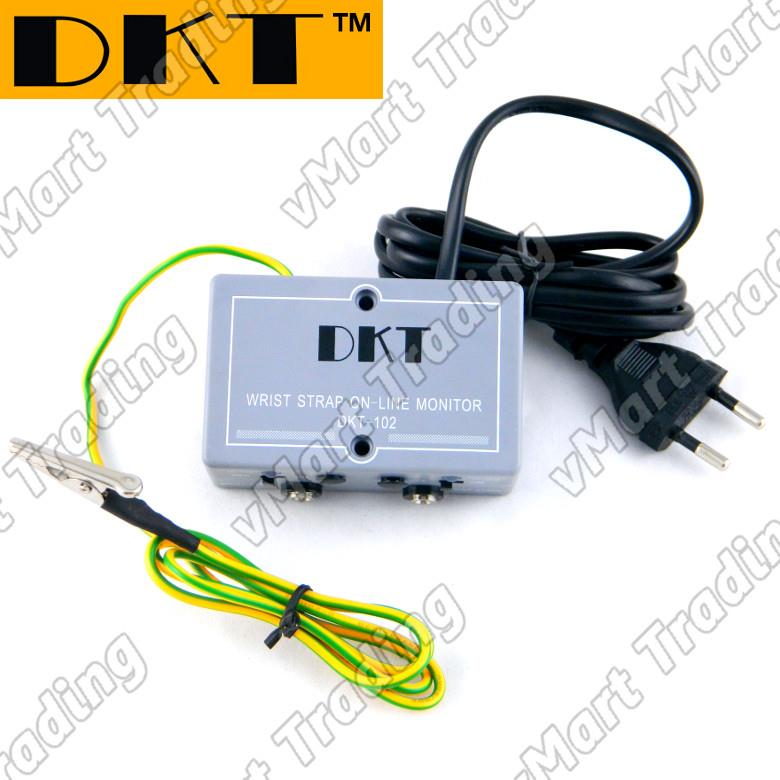 DKT-102 Dual ESD Constant Monitor for Anti-static Wrist Straps & Mats