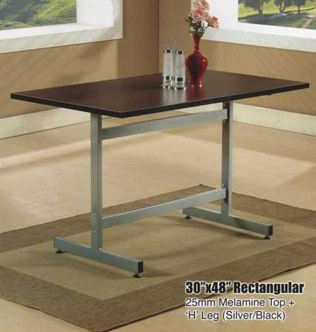 DM 3048 Rectangular Melamine Table with H Leg