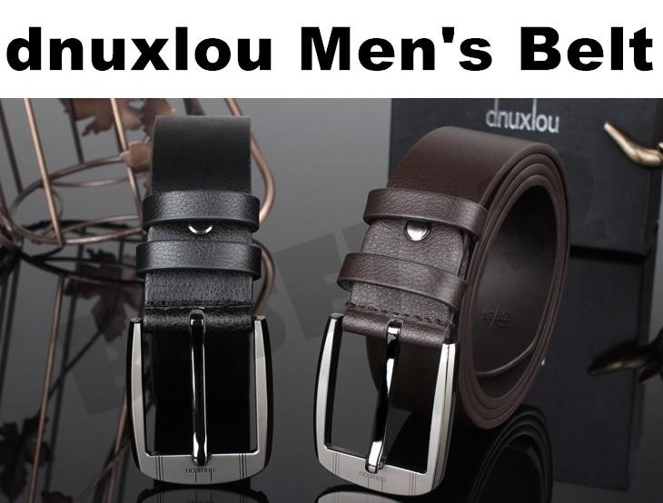 dnuxlou  Man Men Fashion Stylish Leather Belt Anti Burst Buckle