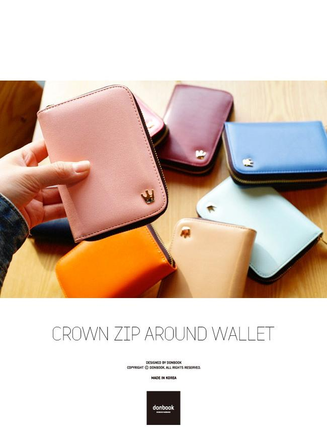 Donbook Crown ZIP Around Wallet