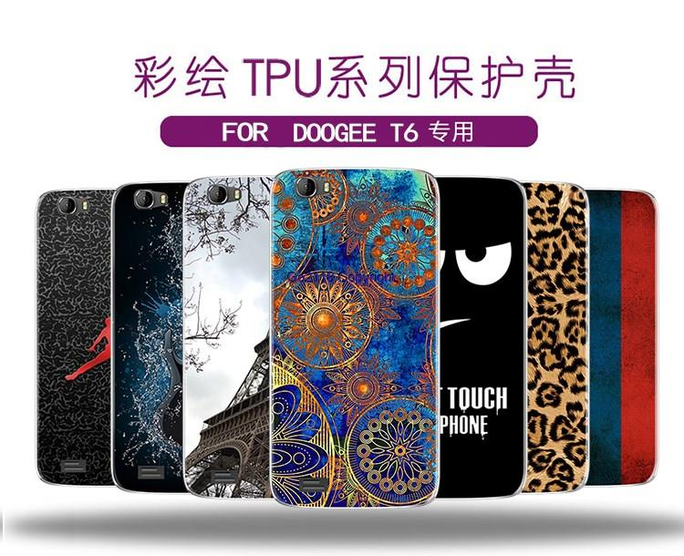 Doogee T6 Pudding Creative Painting TPU Silicone Soft Back Cover Casin