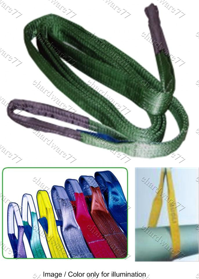 DOUBLE PLY WEBBING SLINGS WITH REINFORCED LIFTING EYES (WBC)