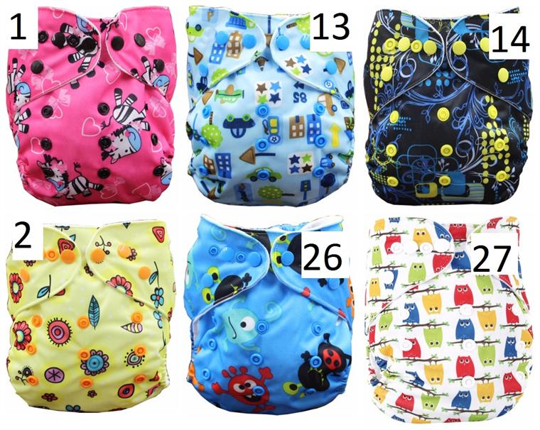 Double Row Snap Cloth Diaper (with insert) A
