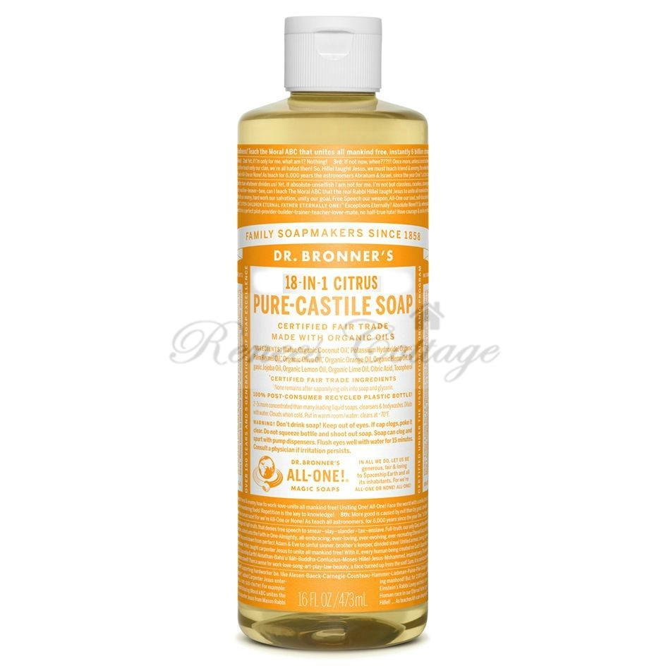 Dr.Bronner's Magic Soaps, Citrus Orange Liquid Castile Soap (237ml)