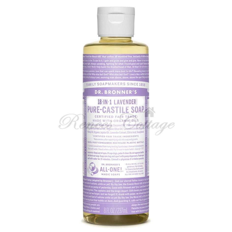 Dr. Bronner's Magic Soaps, Lavender Liquid Castile Soap (237ml, 473ml)