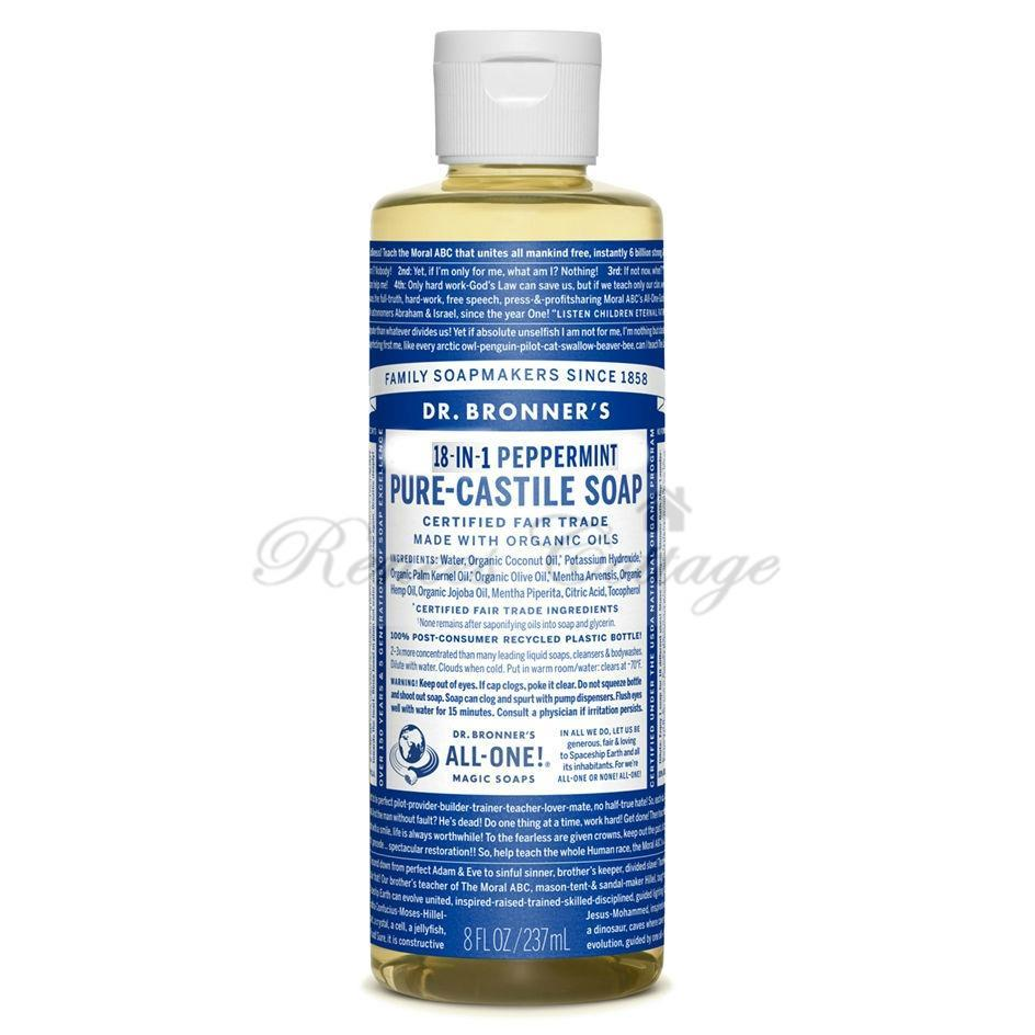 Dr. Bronner's Magic Soaps, Peppermint Liquid Castile Soap (237ml)