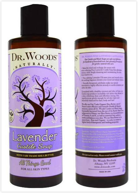 Dr. Woods, Lavender Castile Soap with Fair Trade Shea Butter (236ml)