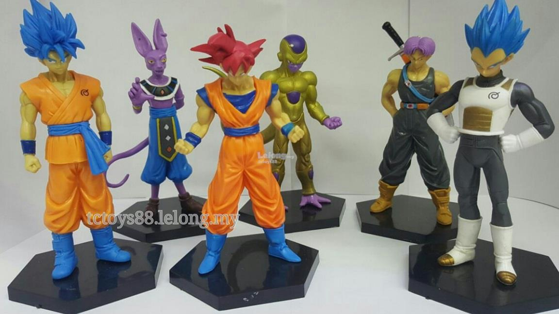 Dragon Ball Figure. Dragon Ball Z figurine. (6 pcs). SET DB03