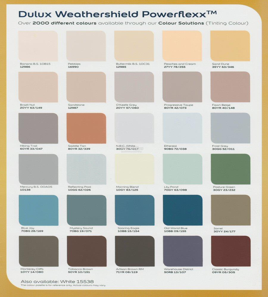 dulux paint weathershield powerflexx end 10 9 2017 3 50 pm. Black Bedroom Furniture Sets. Home Design Ideas