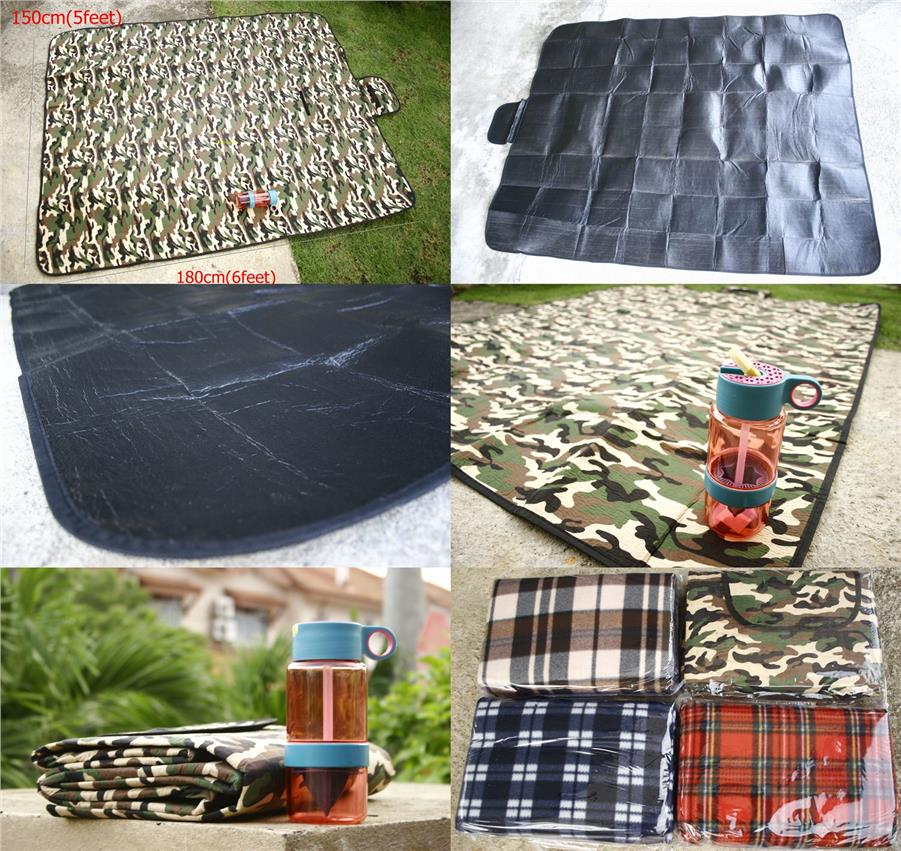 Durable Outdoor Picnic Mat plus Lamon Juice Bottle