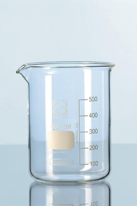 DURAN® Glass beaker, low form, with spout 100ml / Bikar