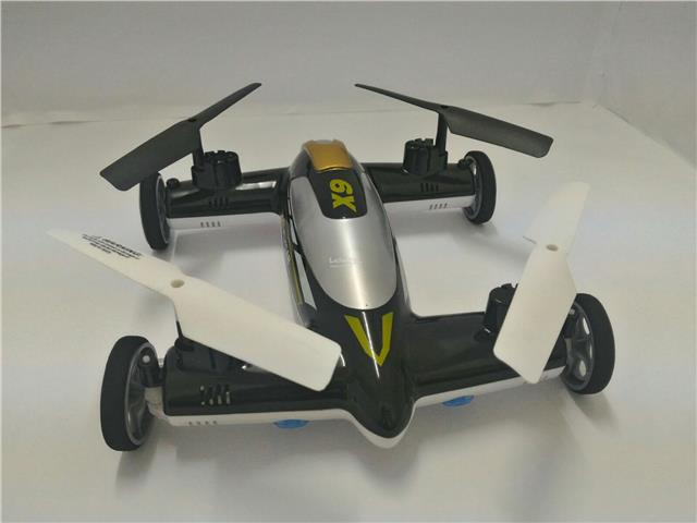 Duwei Toys X9 Land/Fly 4CH 2.4GHz Remote Control Flying Car (Black)