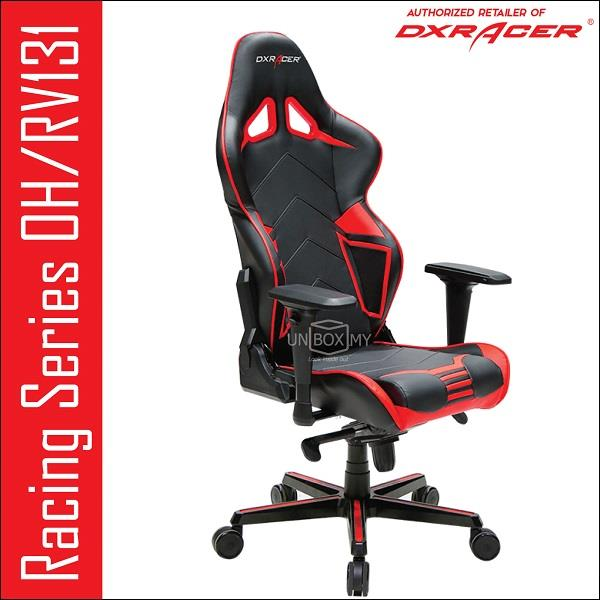DXRACER OH/RV131 Racing Series PC Gaming Chair Red