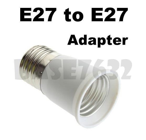 E27 Male to E27 Female  Socket Light Bulb Lamp Holder Adapter Plug