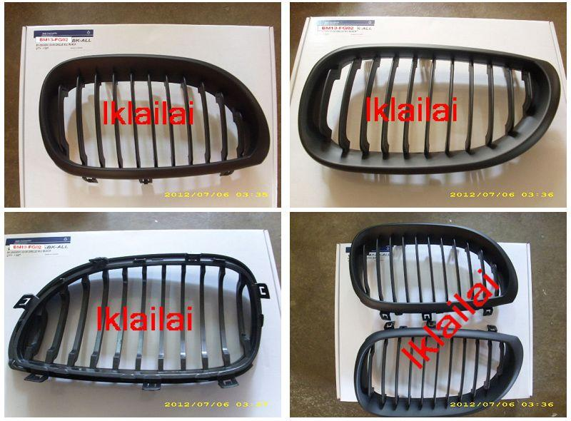 E60 '03-`10 FRONT GRILLE ALL BLACK [BM13-FG02-U]