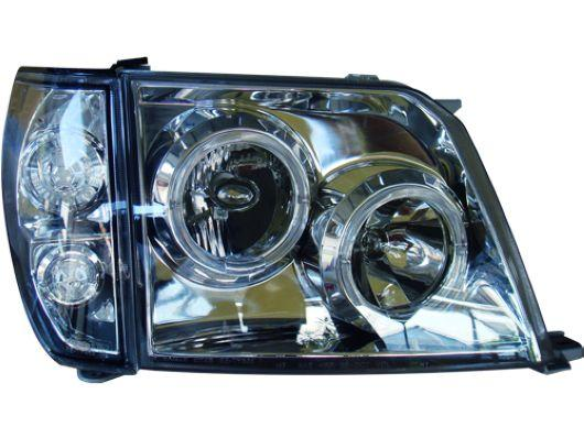 Eagle Eye Toyota Prado `97-02 FJ90 Head Lamp Chrome W/Rim+Corner