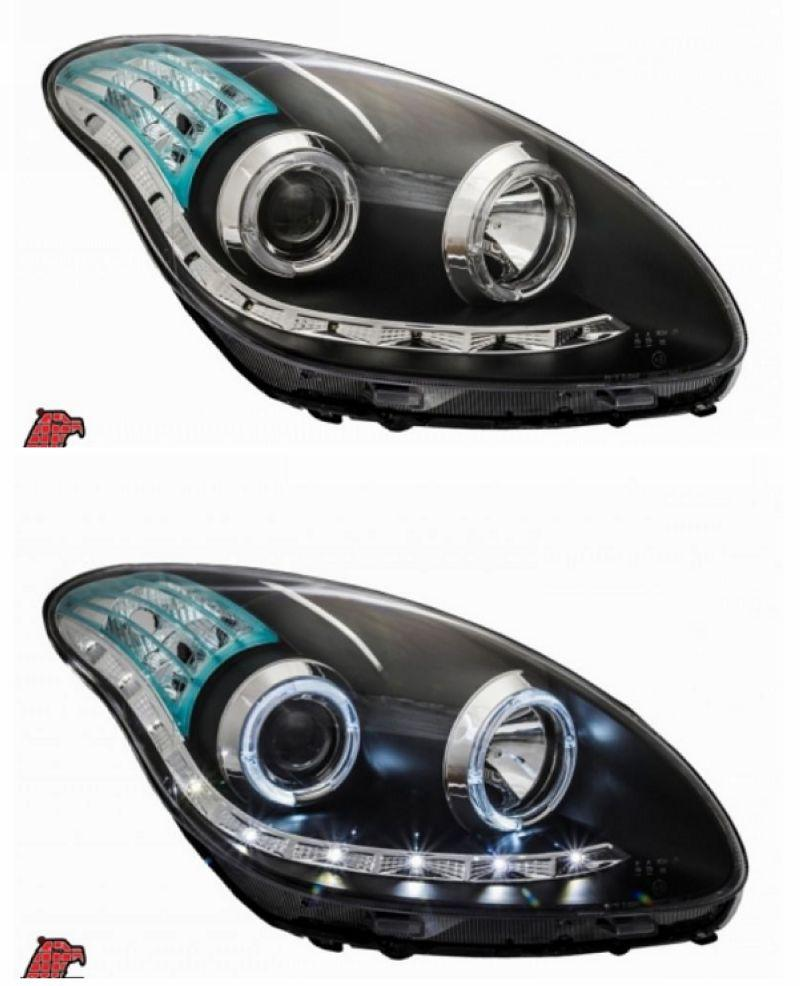 Eagle Eyes MYVI 05-10 LED Ring PROJECTOR HEAD LAMP LED DRL R8