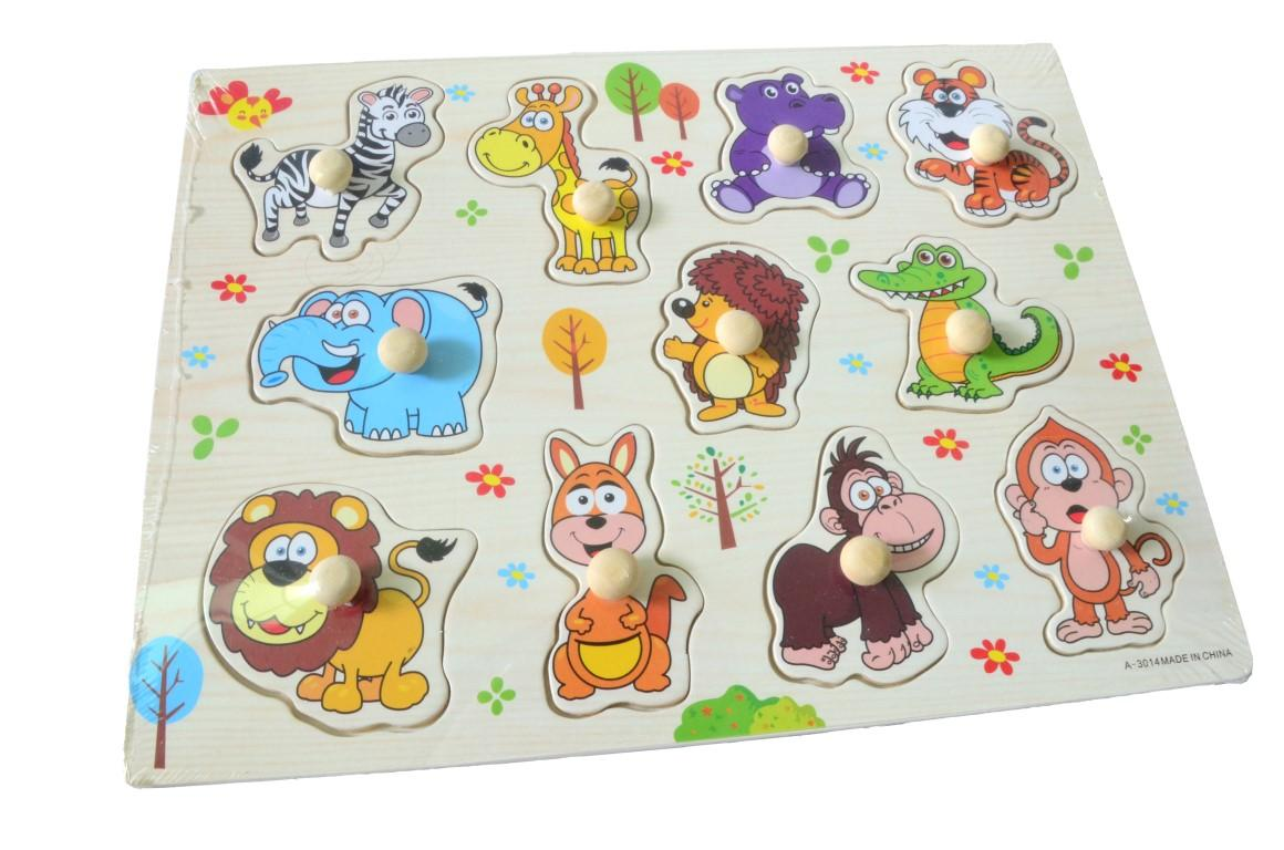 Educational Learning Wood Puzzle- Animals