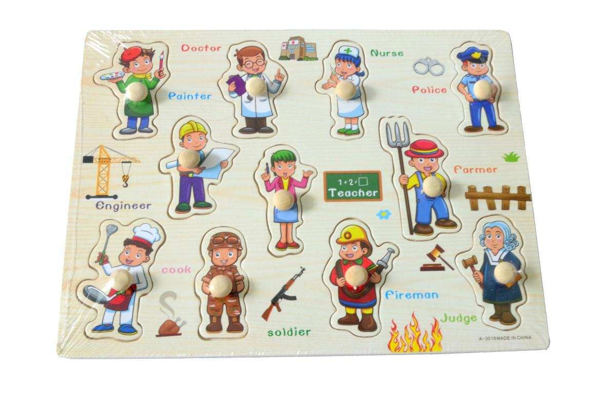 Educational Learning Wood Puzzle- Occupation