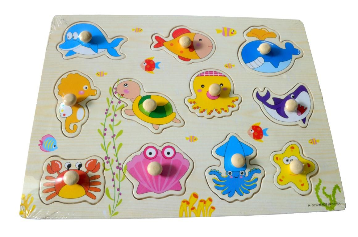Educational Learning Wood Puzzle- Sea Animals