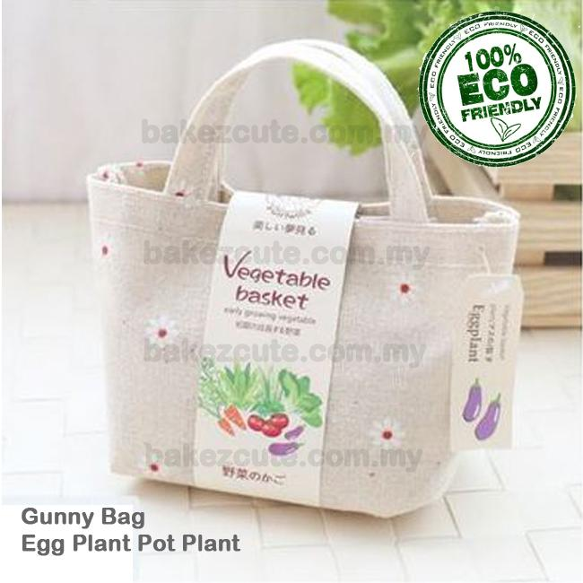 EggPlant Cultivation in Mini Fashion Gunny Bag DIY Table Pot Plant