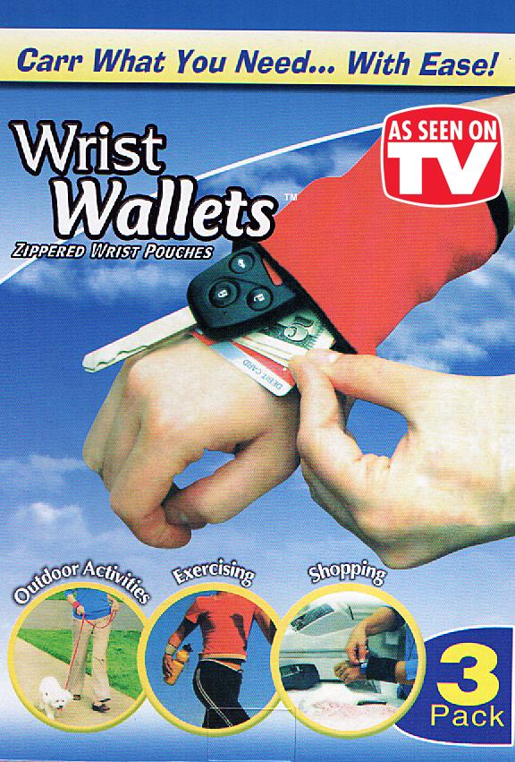 [EH152-15518] Wrist Wallet (3 units per set)~As Seen On TV~