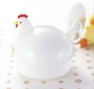 [EH225-14689] Chicken Shaped Microwave Eggs Boiler Cooker (4 Eggs)