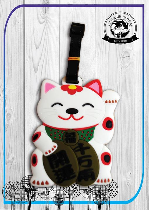 Ekasih 3D Premium Gift 3D Luggage Tag - Japanese Maneki-Neko Lucky Cat