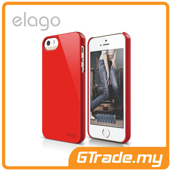 ELAGO S5 Slim Fit 2 Case | Apple iPhone 5S 5 - Hot Red