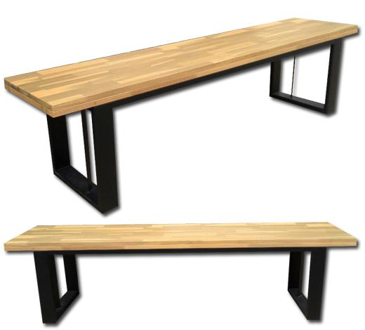 Elantro 6ft Bench with Acacia Wood Top and Steel Frame