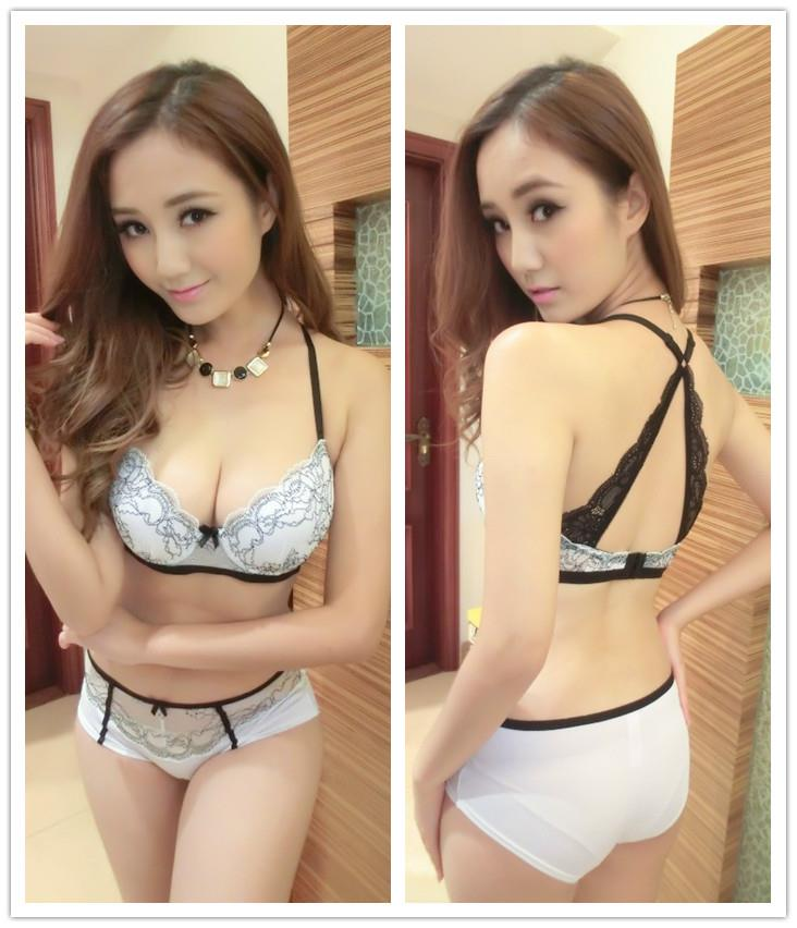 Elegant Beauty-Back Push-Up Bra Set (White)