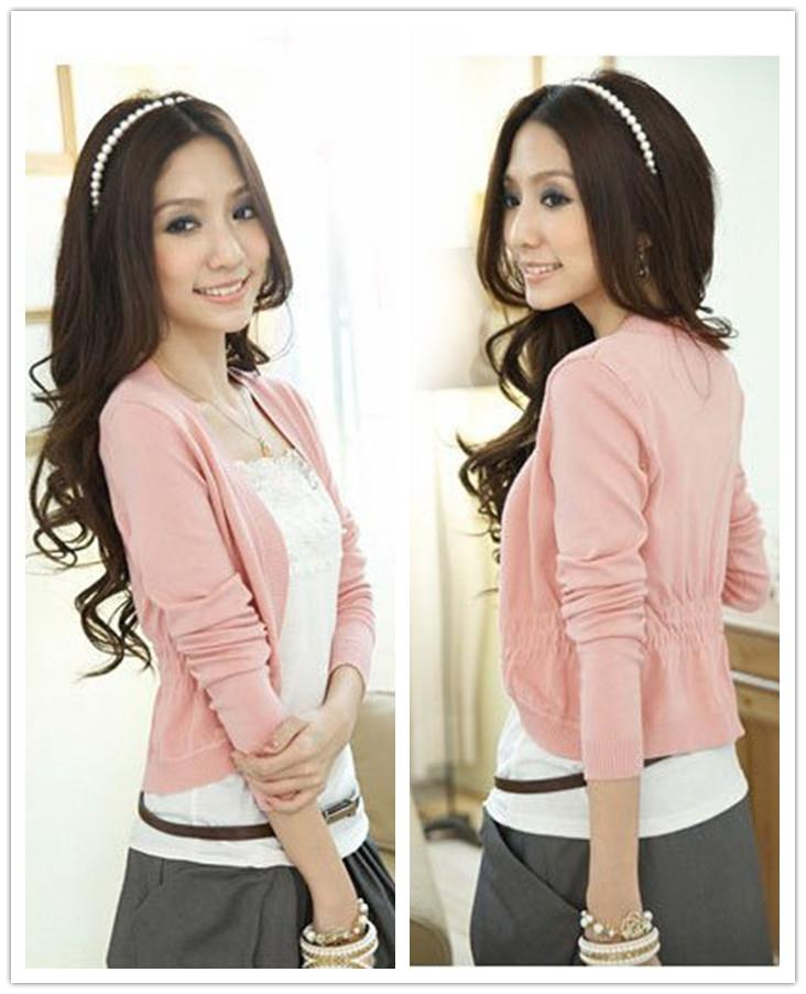 Elegant Long Sleeve Knit Jacket (Many Colour Can Choose)