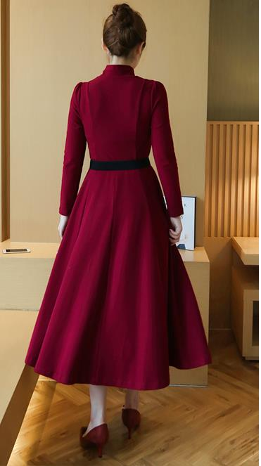 Elegant Maxi Dress Maroon