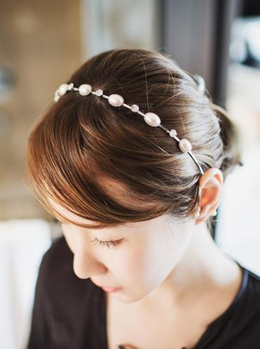 Elegant Pearl Diamond Hair Band