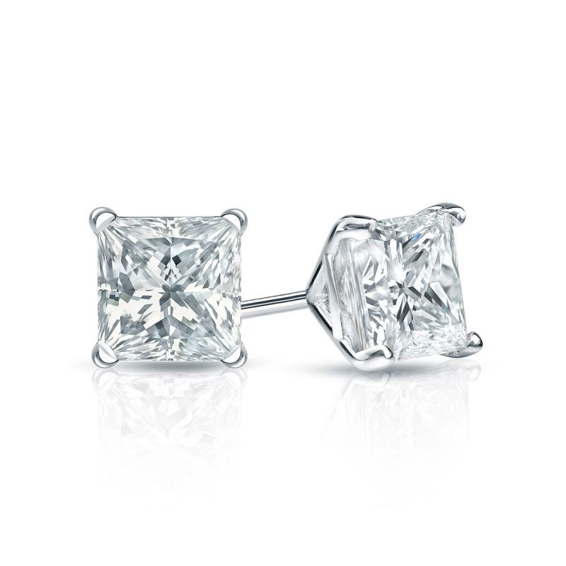 Elfi 925 Sterling Silver Princess Cut Earring SE-11M