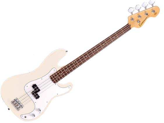 ENCORE ELECTRIC BASS PACKAGE EBP-E4 - VINTAGE WHITE