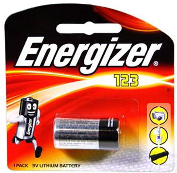 Energizer Primary CR123 / CR123A Lithium Battery (Non-Rechargeable)