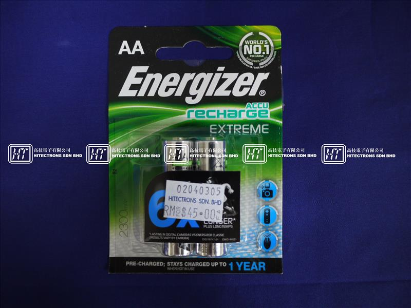 Energizer Rechargeable Battery AA 2300mAH 6X Longer