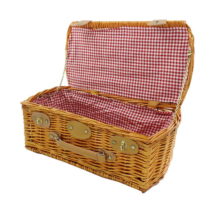 English Style Picnic Chest Rattan Brown colour