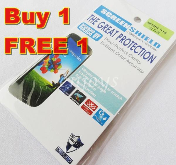 Enjoys: 2x Ultra Clear LCD Screen Protector for HTC Desire 816