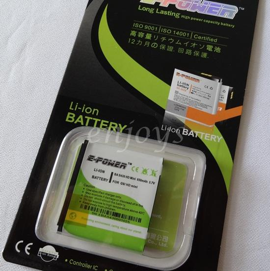 Enjoys EPOWER Long Lasting Battery BA S430 HTC Aria G9/ HD mini T5555