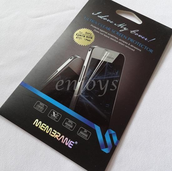Enjoys: MEMBRANE Clear LCD Screen Protector Sony Xperia sola / MT27i