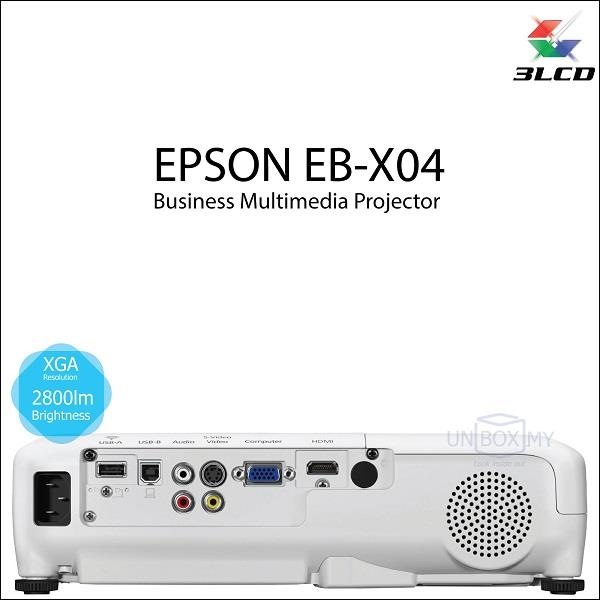 Epson EB-X04 Business Multimedia 3LCD Projector