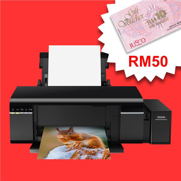 Epson L805 Ink Tank Colour Photo Printer - A4/6 Color *FREE RM50 AEON*