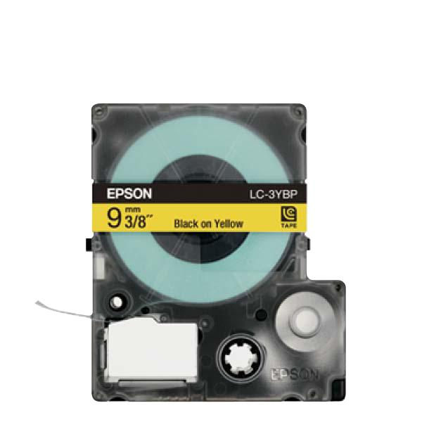 Epson LabelWorks Tape 9mm Black on Yellow 9 Meter (LK-3YBP)